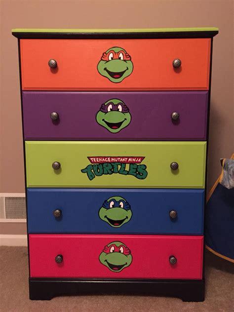 diy furniture tmnt dresser idea  son loves
