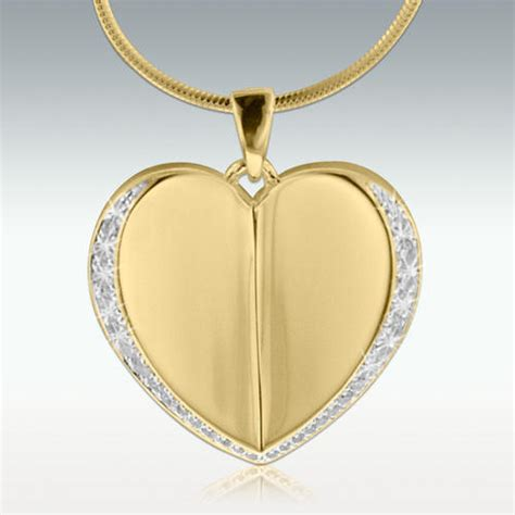 permitting heart solid  gold cremation jewelry engravable