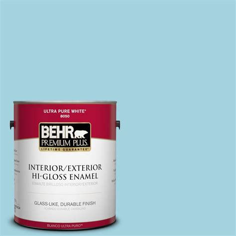behr premium plus 1 gal m470 3 midwinter mist hi gloss