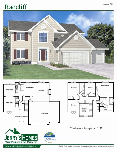 4 story house plans luxury 4 bedroom 2 story house floor plans new home