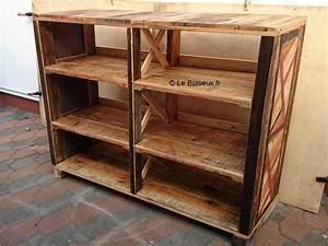 Petite Caisse En Bois : meuble tag re ouvert tampes caisses vin plateaux de table en bois recycl sur mesure ~ Teatrodelosmanantiales.com Idées de Décoration