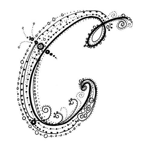 Fancy Alphabet  C Httpwwwkathiquinncom Letters