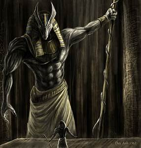 Egypt, artwork, mythology, Anubis :: Wallpapers