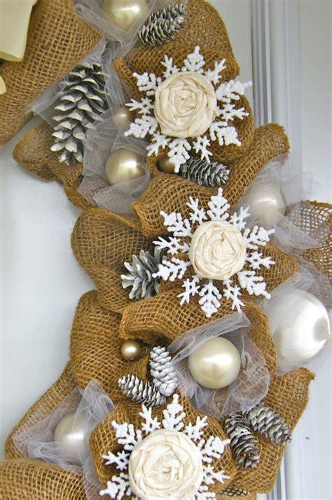 burlap ideas for christmas elegant burlap and snowflake wreath fynes designs fynes designs