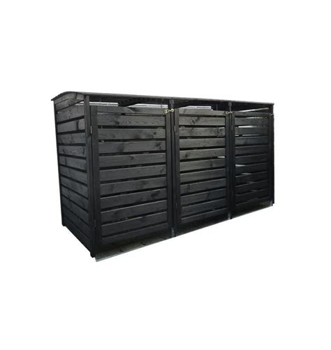 mülltonnenbox holz 3 tonnen m 252 lltonnenbox quot vario iii quot f 252 r 3 tonnen holz anthrazit