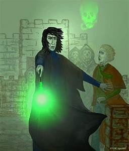 Severus Snape kills Dumbledore by rgn2007 on DeviantArt