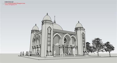 desain masjid musholla  perencanaan masjid al huda
