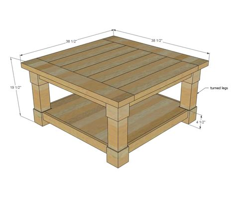 Living Room Table Measurements by White Build A Corona Coffee Table Square Free