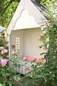 Gartenhaus Shabby Chic : offenes kleines gartenhaus mit veranda shabby garden pinterest garten garten ideen und ~ Markanthonyermac.com Haus und Dekorationen