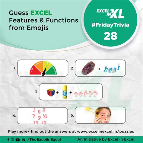 fridaytrivia  guess excel features functions