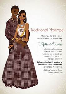 lerato sotho south african traditional wedding invitation With wedding invitations cards south africa