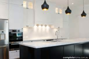 black white and kitchen ideas contemporary black and white kitchen design completehome