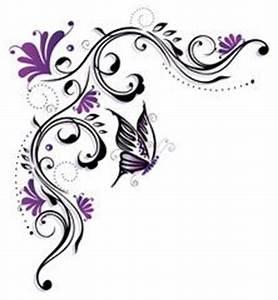 Rahmen Vorlagen Schnörkel : vektor ranke flora blumen bl ten schmetterling lila violett buch pinterest blumen ~ Eleganceandgraceweddings.com Haus und Dekorationen