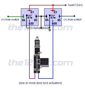 door locks actuators polarity positive switch trigger type d relay wiring diagram