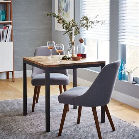 Small Wood Dining Table by Box Frame Square Dining Table Wood West Elm For The