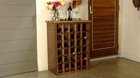 how to build a wine cabinet how to build a wine rack youtube