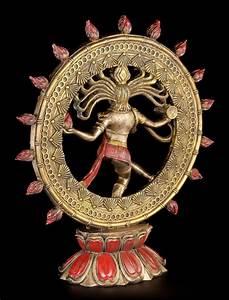Indische Gtter Figur Shiva Nataraja Im Flammenkreis