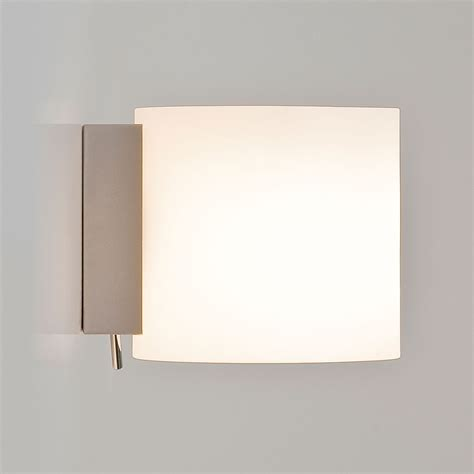 astro luga square polished chrome and white glass wall light at uk electrical supplies