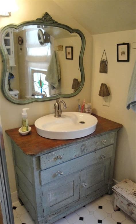 Distressed Bathroom Vanity Mirror by Amazing Canton Antiques Bathroom Vanities Using Distressed