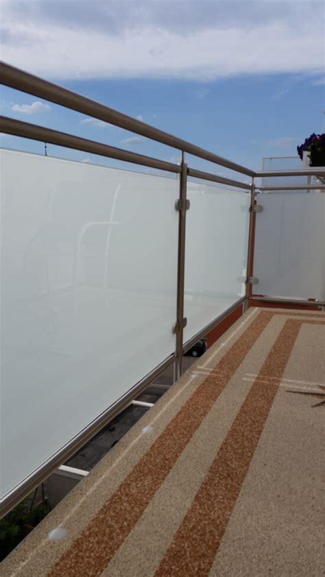 balkongeländer glas edelstahl edelstahl balkongel 228 nder mit glas selbst gebaut