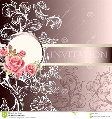 Elegant Wedding Invitation Card In Pastel Tones Stock