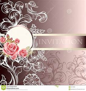 elegant wedding invitation card in pastel tones stock With elegant floral wedding invitations vector