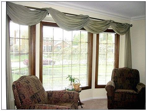 another idea curtain bay window ideas curtains and