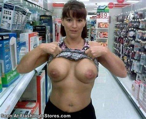 Hidden Cleavage At A Store Girl And Slut Flaunt In Walmart