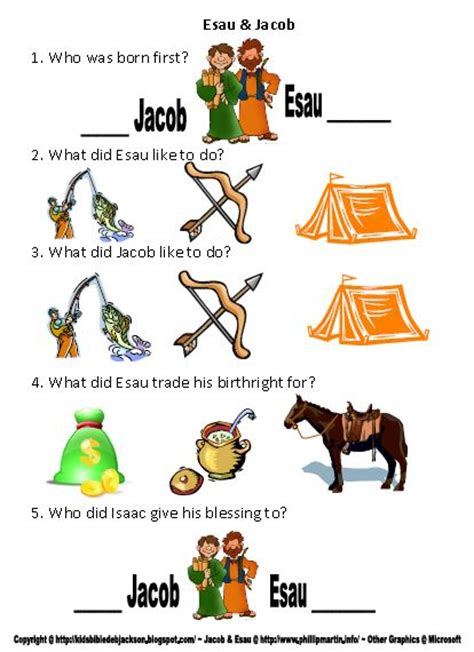 bible for genesis jacob amp esau 601 | Jacob %2526 Esau worksheet