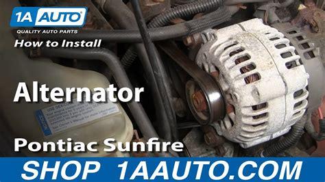 replace alternator   pontiac sunfire youtube