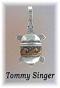 Tommy Singer Sterling Silver Native American Turtle ...