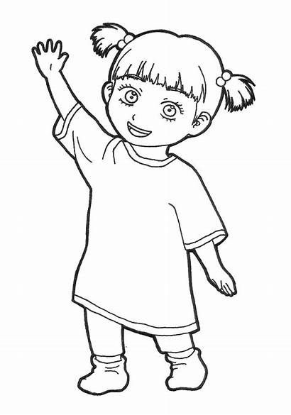 Boo Monsters Inc Monster Coloring Pages Pluspng