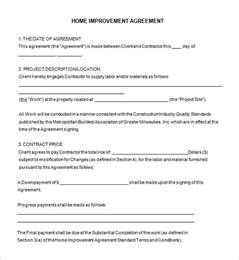Home Remodeling Contract Template 7 Free Word, PDF