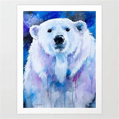 Polar Bear Prints Society6 Artwork