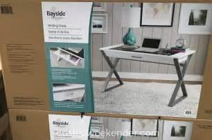 bayside writing desk costco bayside furnishings white wood writing desk costco weekender