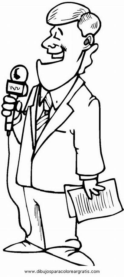 Periodista Dibujo Disegno Coloring Reporter Dibujos Colouring