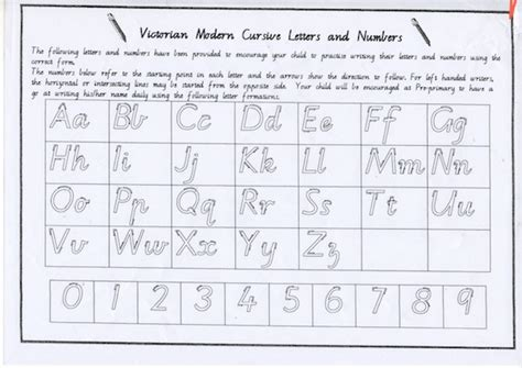victorian modern cursive letters  numbers