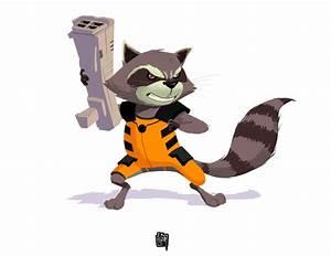 Rocket Raccoon fanart by cesarvs on DeviantArt