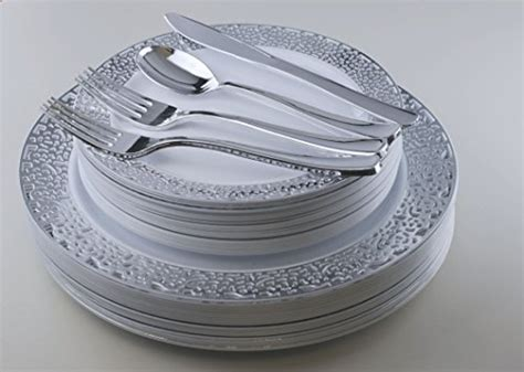 Plastic Wedding Plates And Silverware & ... Clear Plastic