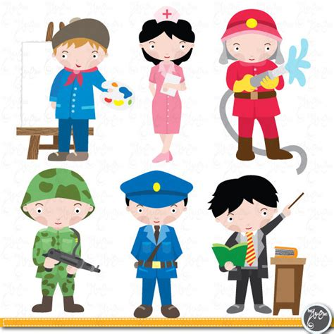 12202 different professions clipart occupations digital clip occupation graphic by yenzarthaut