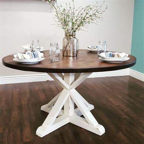 diy round dining table stunning handmade rustic round farmhouse table by