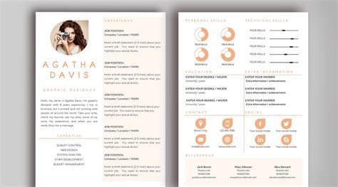 Graphic Designer Resume Templates Word by Agatha Davis Sle Resume Template For Graphic Designer