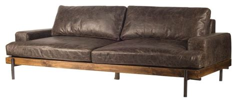 Sofa Industrial by Colburne Ii Leather Sofa Industrial Sofas By Cece Me