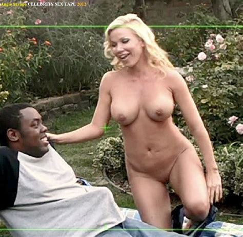 Naked Angie Savage In Celebrity Sex Tape