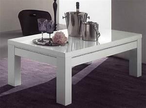 Table Laqué Blanc : table basse chic laque blanc ~ Teatrodelosmanantiales.com Idées de Décoration