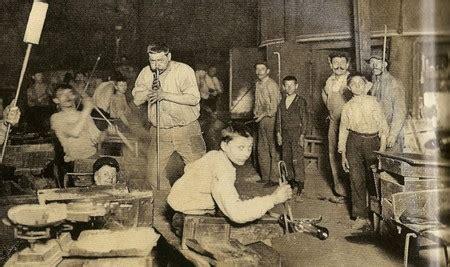 le travail des enfants italiens dans les verreries francaises
