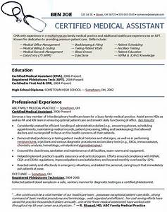 Medical assistant sample resume sample resumes for Cma resume examples