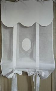 Voilage Brise Bise : brise bise voilages rideaux monogrammes broderie shabby store chloe blanc 45x160 cm deco ~ Teatrodelosmanantiales.com Idées de Décoration