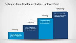 Team Development Model Slide Design With 4 Stairs For