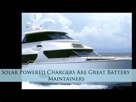 How Boat Battery Chargers Work by Solar Powered Onboard Marine And Boat Trickle Battery